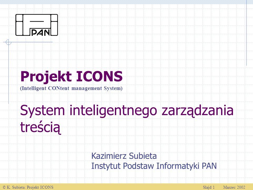 Projekt ICONS System inteligentnego zarządzania treścią