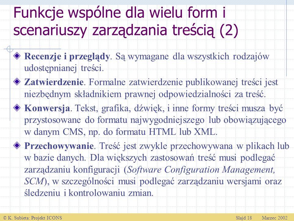 Funkcje wspólne dla wielu form i scenariuszy zarządzania treścią (2)