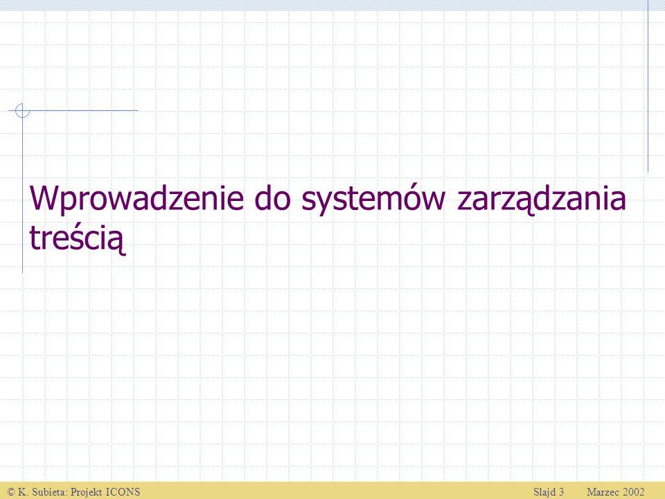 Wprowadzenie do systemów zarządzania treścią