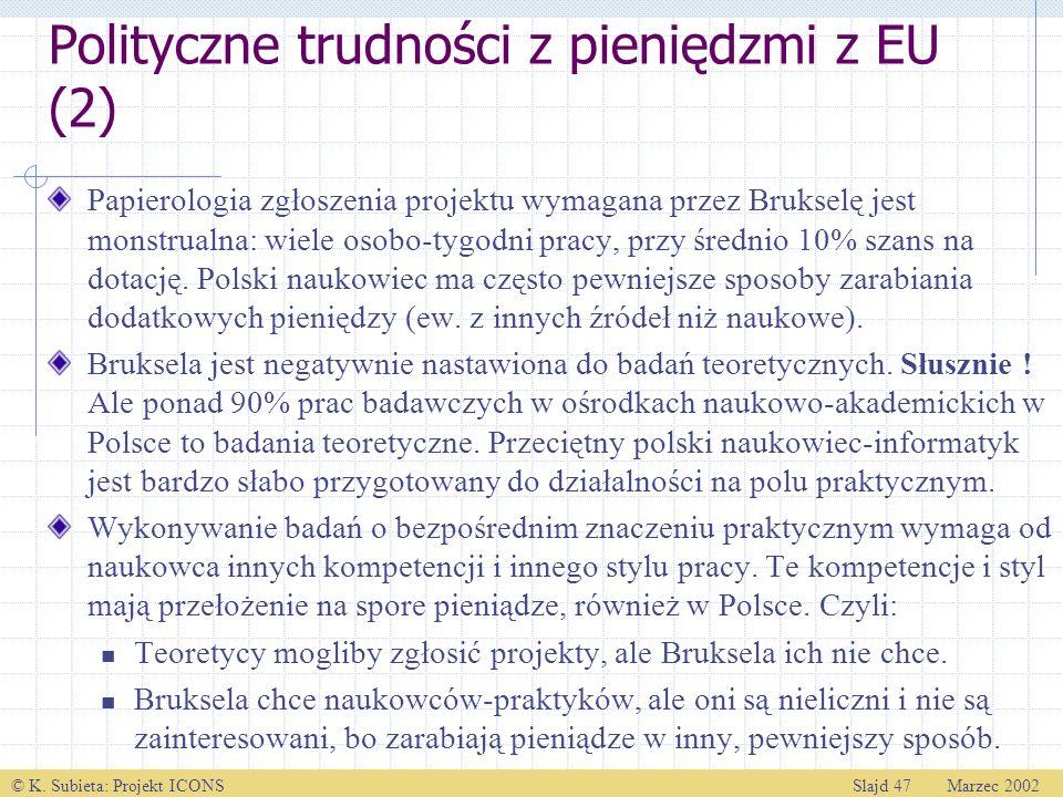 Polityczne trudności z pieniędzmi z EU (2)