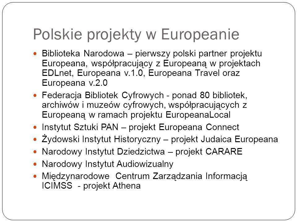 Polskie projekty w Europeanie