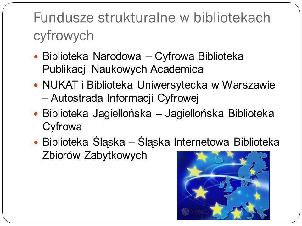 Fundusze strukturalne w bibliotekach cyfrowych