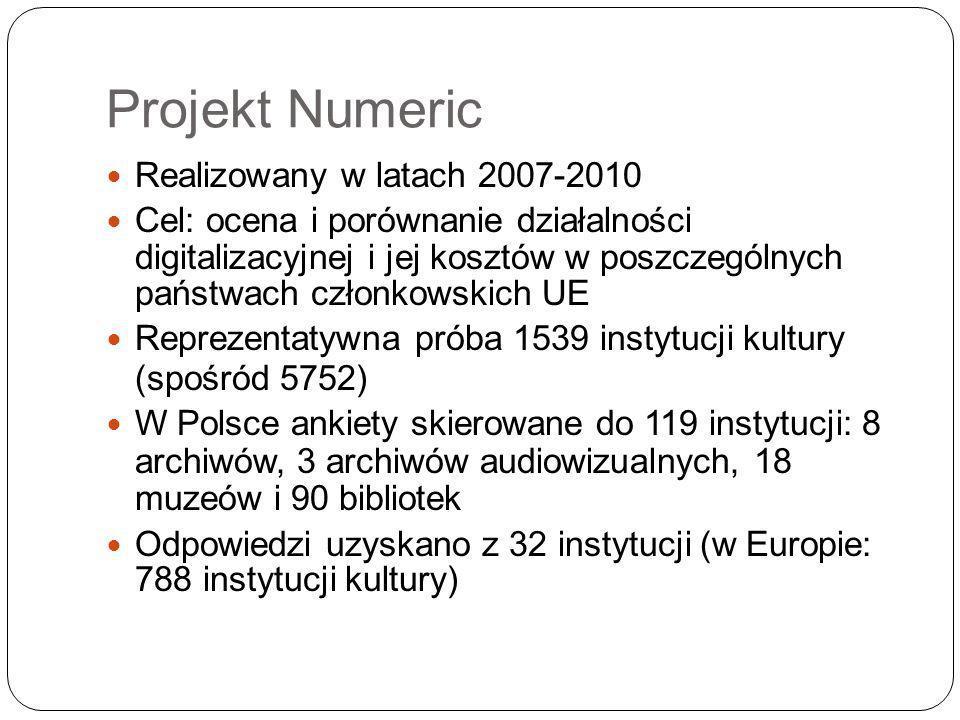 Projekt Numeric Realizowany w latach 2007-2010