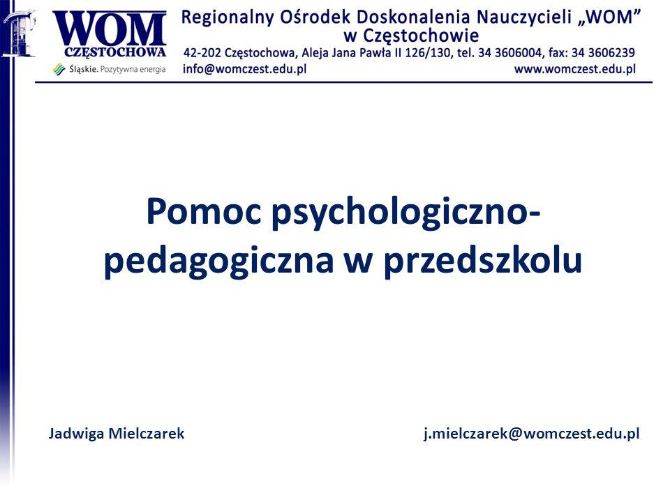 Pomoc psychologiczno- pedagogiczna w przedszkolu