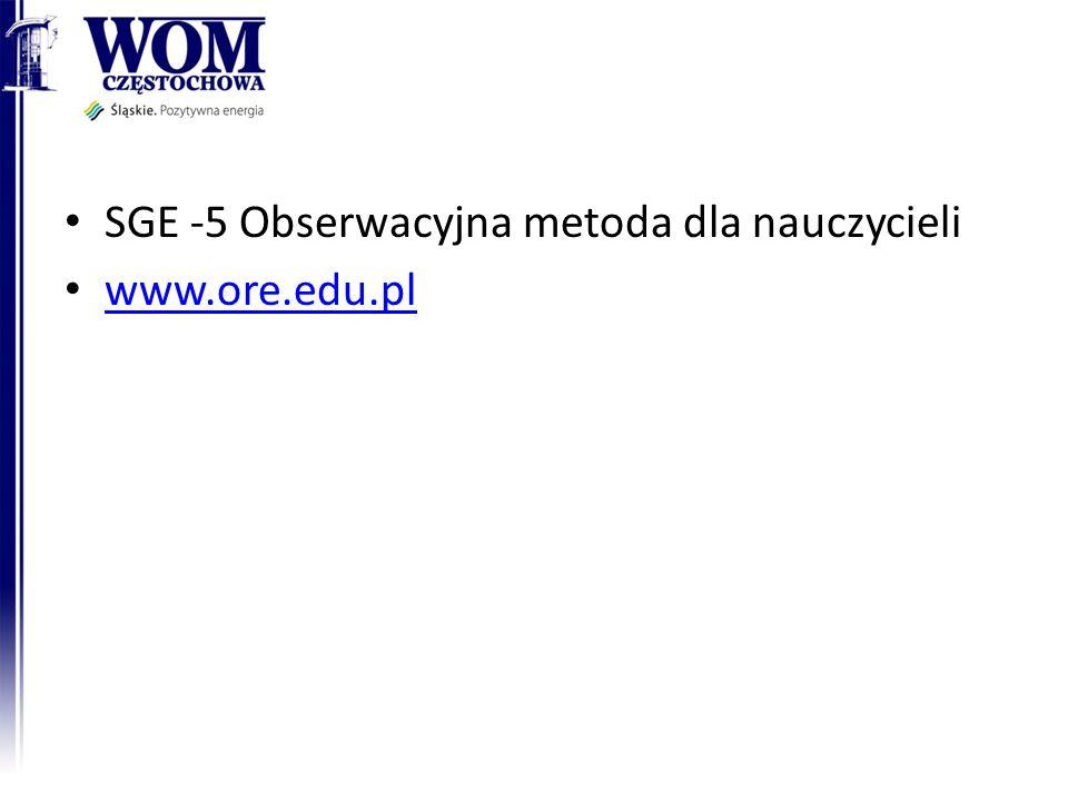 SGE -5 Obserwacyjna metoda dla nauczycieli