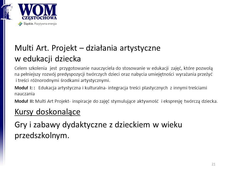 Multi Art. Projekt – działania artystyczne w edukacji dziecka
