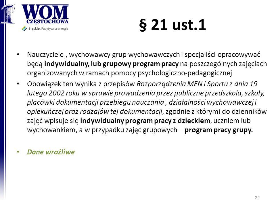 § 21 ust.1