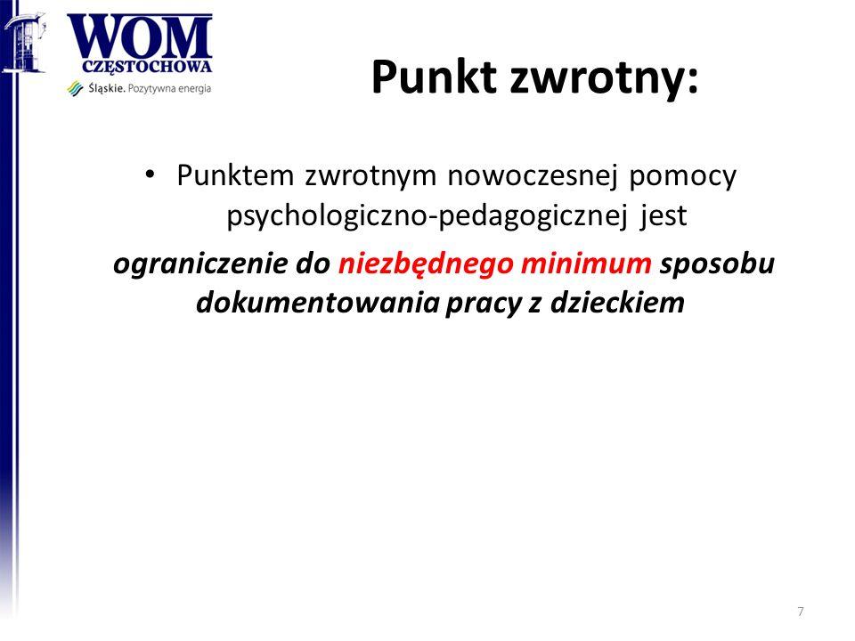 Punktem zwrotnym nowoczesnej pomocy psychologiczno-pedagogicznej jest