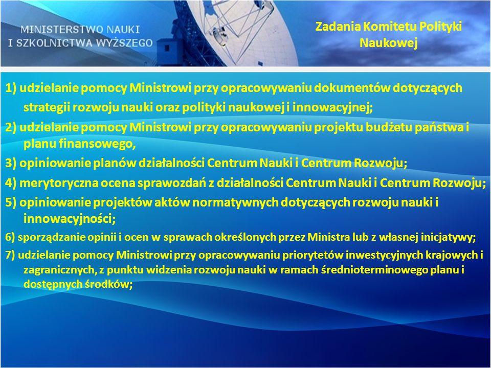 Zadania Komitetu Polityki Naukowej