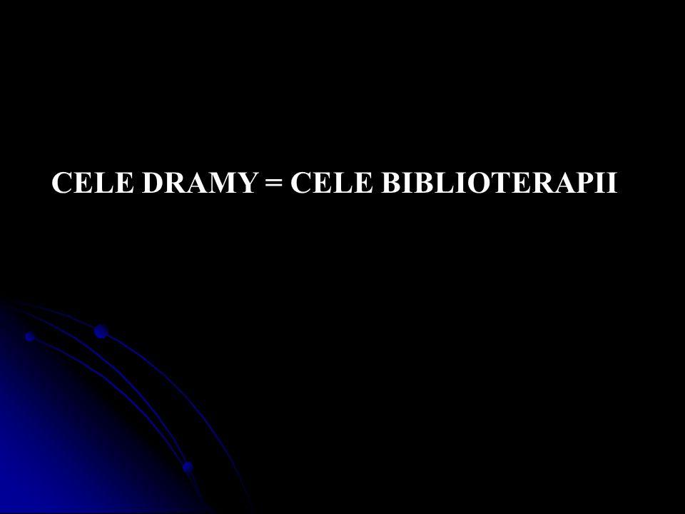 CELE DRAMY = CELE BIBLIOTERAPII