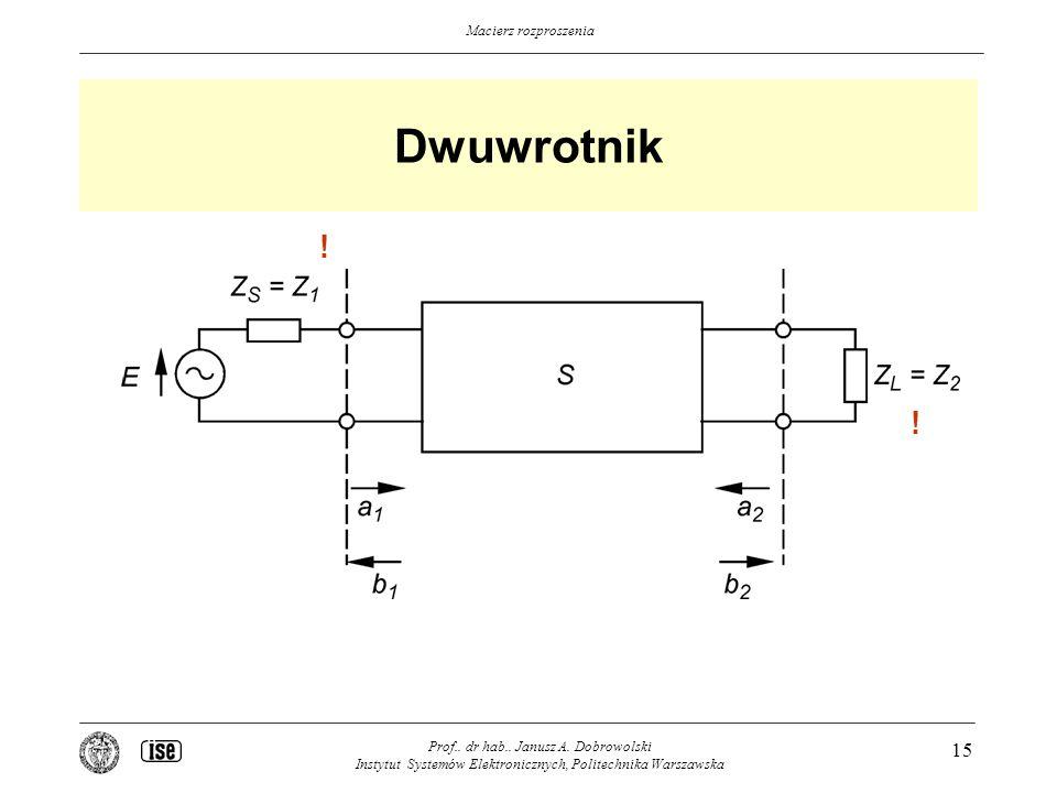 Dwuwrotnik . . Prof.. dr hab.. Janusz A.