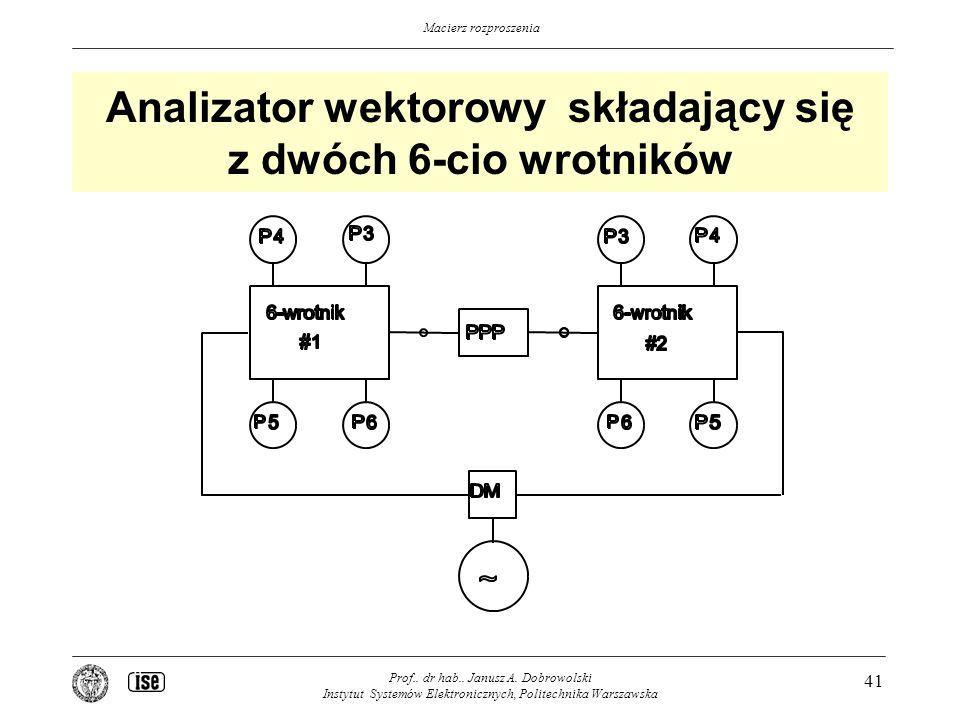 Analizator wektorowy składający się z dwóch 6-cio wrotników