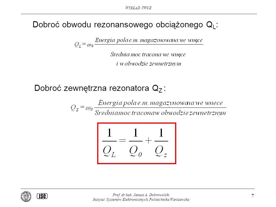 Dobroć obwodu rezonansowego obciążonego QL: