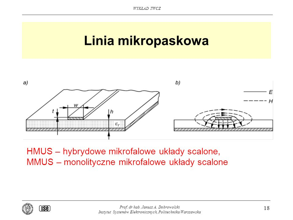 Linia mikropaskowa HMUS – hybrydowe mikrofalowe układy scalone,