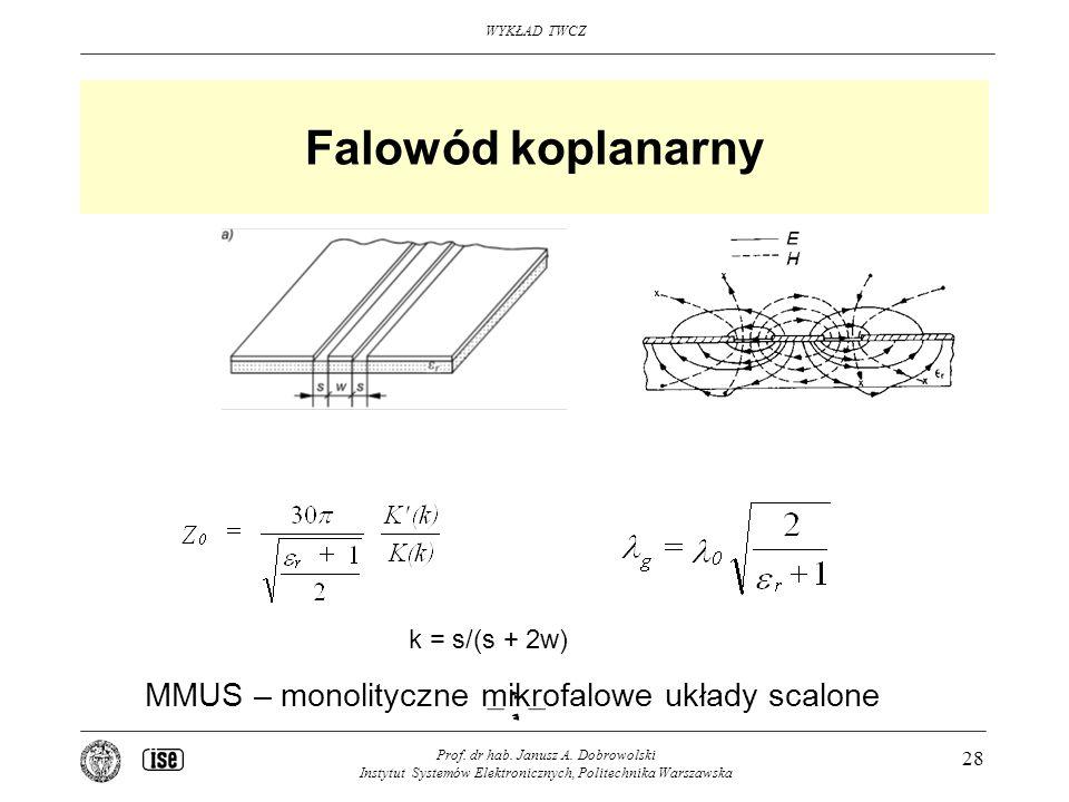 Falowód koplanarny MMUS – monolityczne mikrofalowe układy scalone
