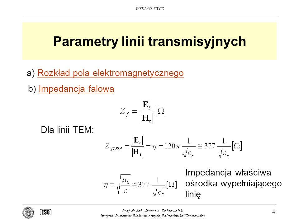 Parametry linii transmisyjnych