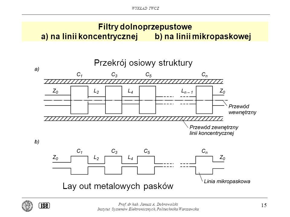 Przekrój osiowy struktury