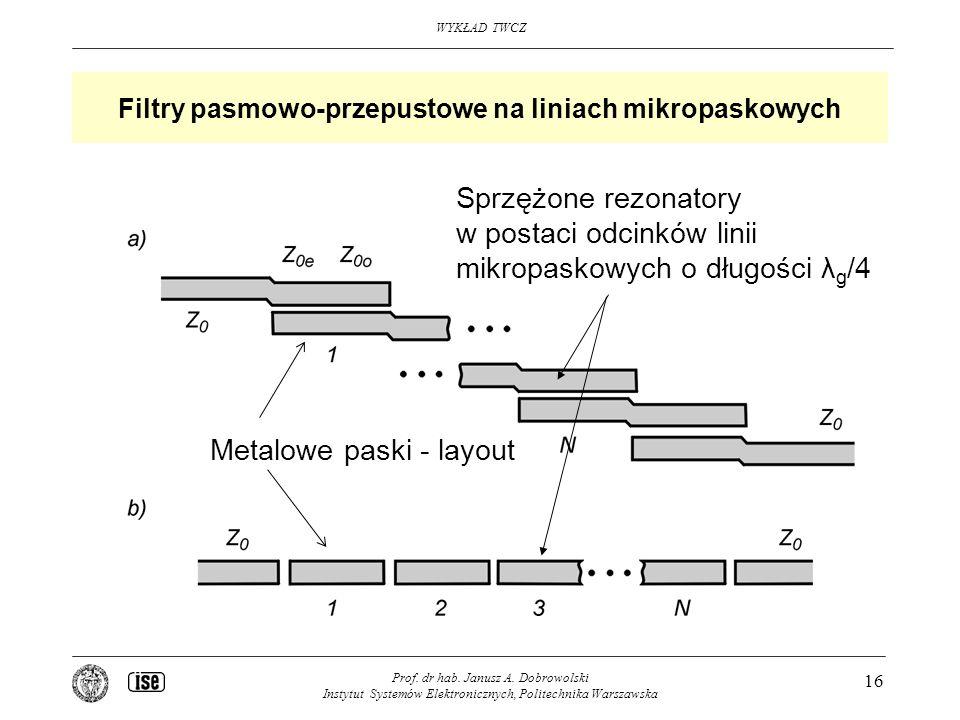 Filtry pasmowo-przepustowe na liniach mikropaskowych