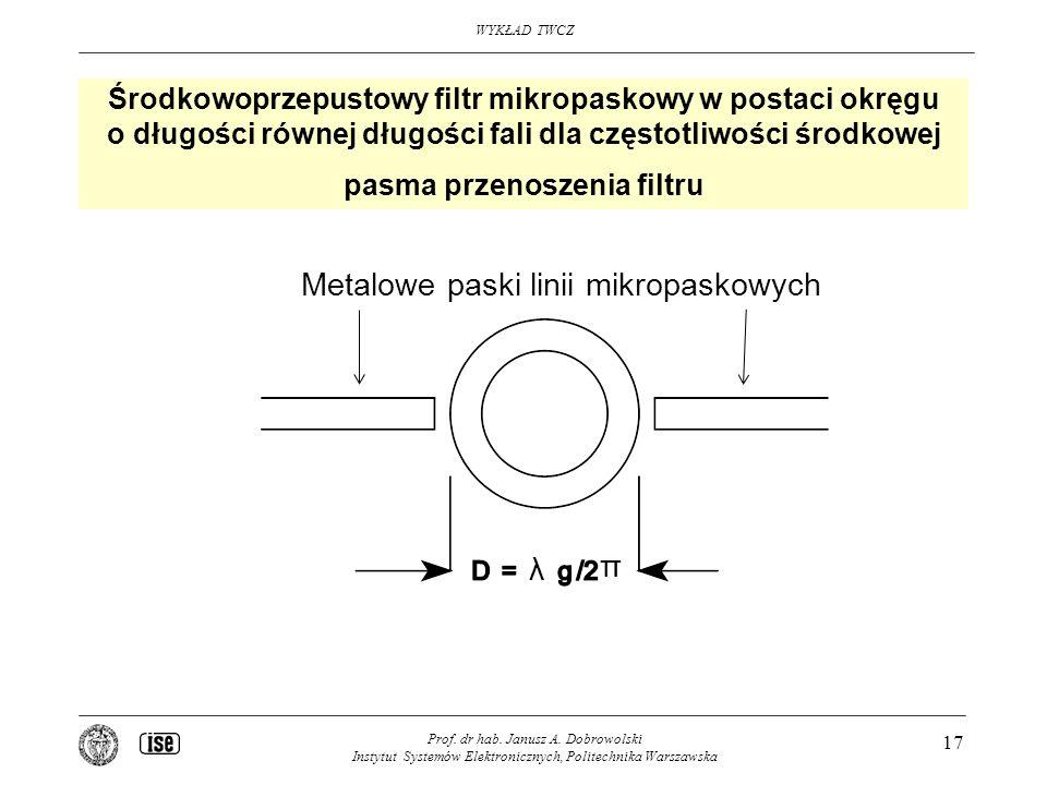 Metalowe paski linii mikropaskowych