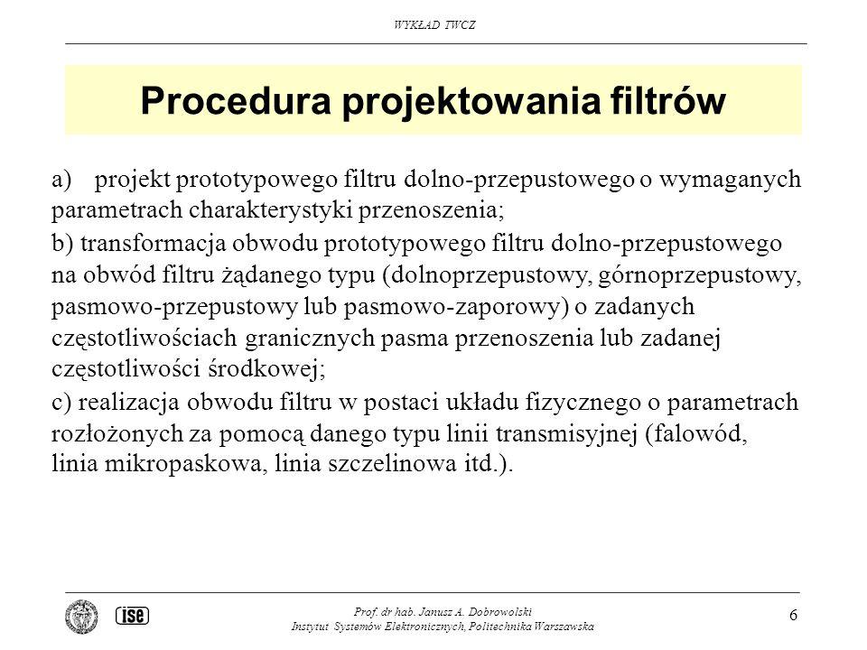 Procedura projektowania filtrów