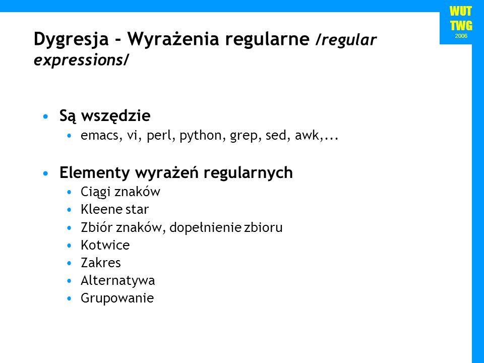 Dygresja - Wyrażenia regularne /regular expressions/
