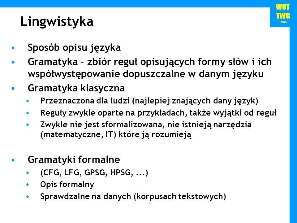 Lingwistyka Sposób opisu języka