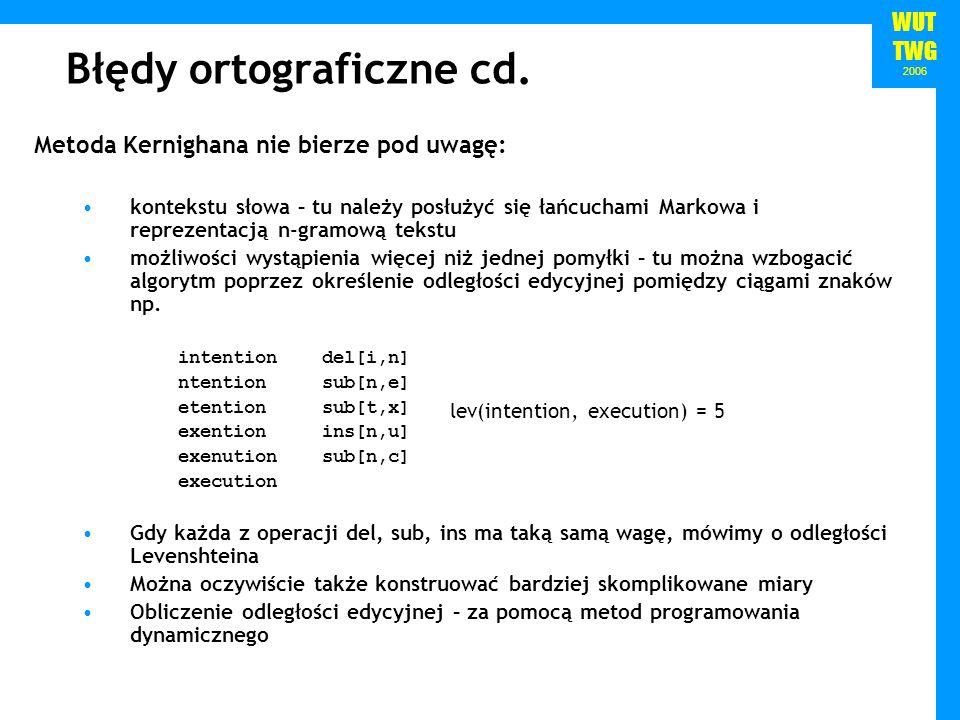 Błędy ortograficzne cd.