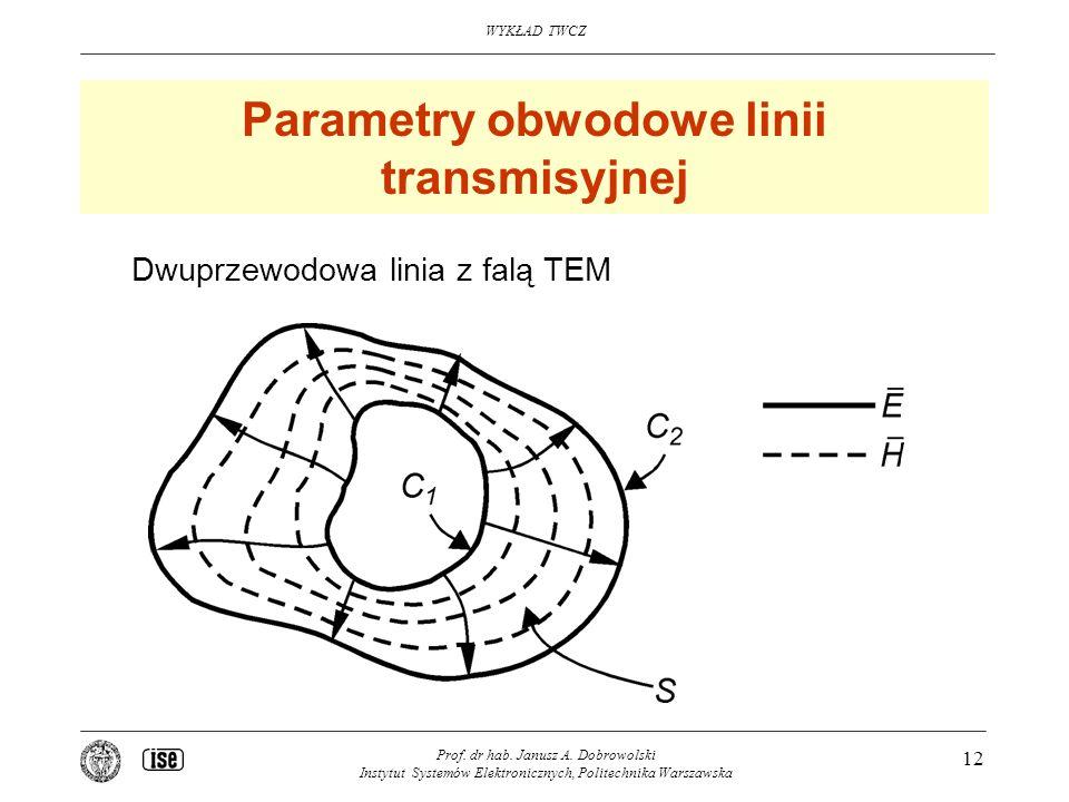 Parametry obwodowe linii transmisyjnej