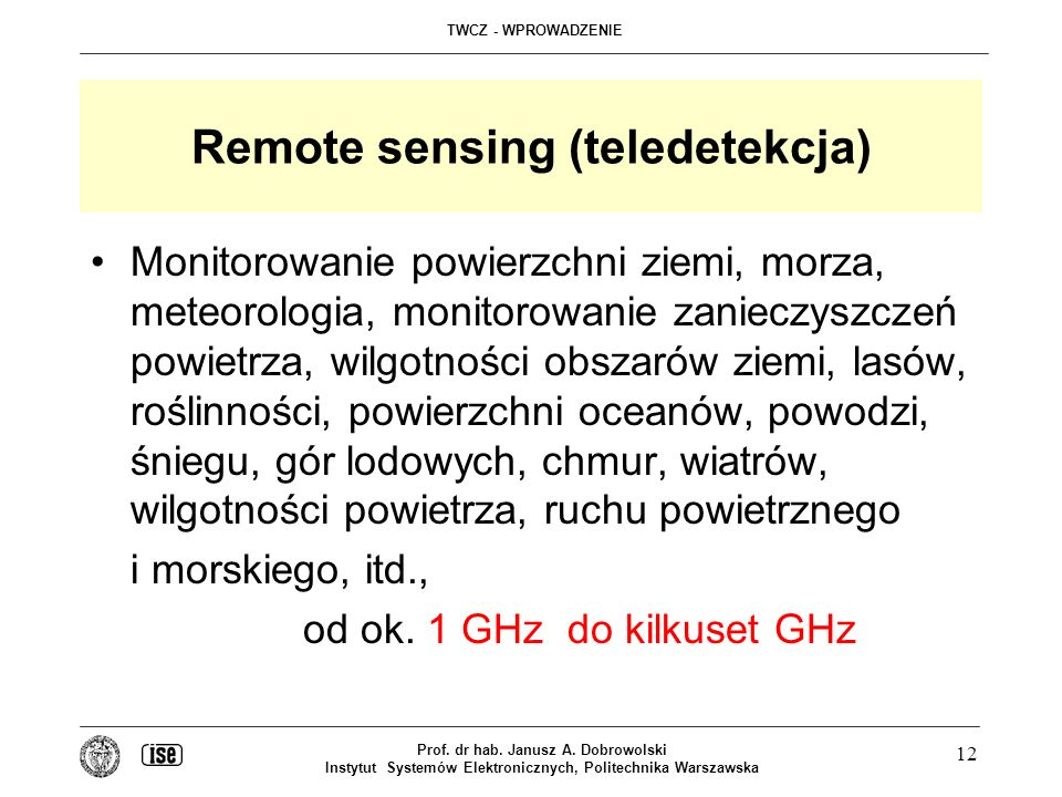 Remote sensing (teledetekcja)