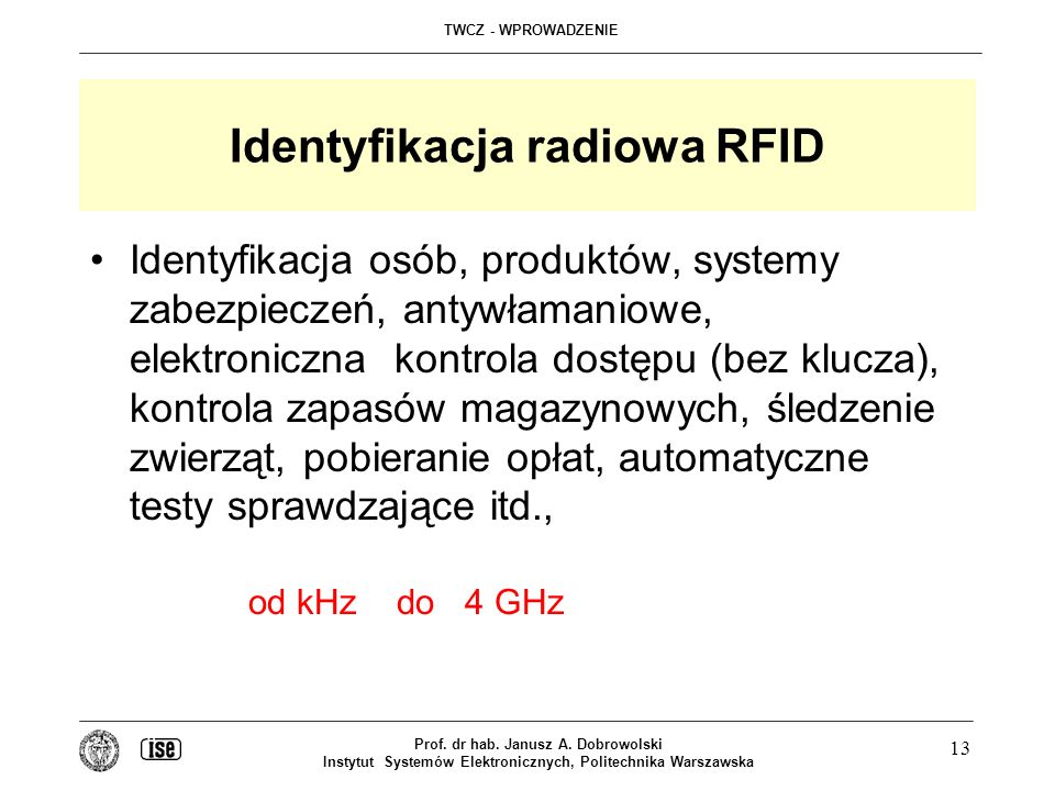 Identyfikacja radiowa RFID