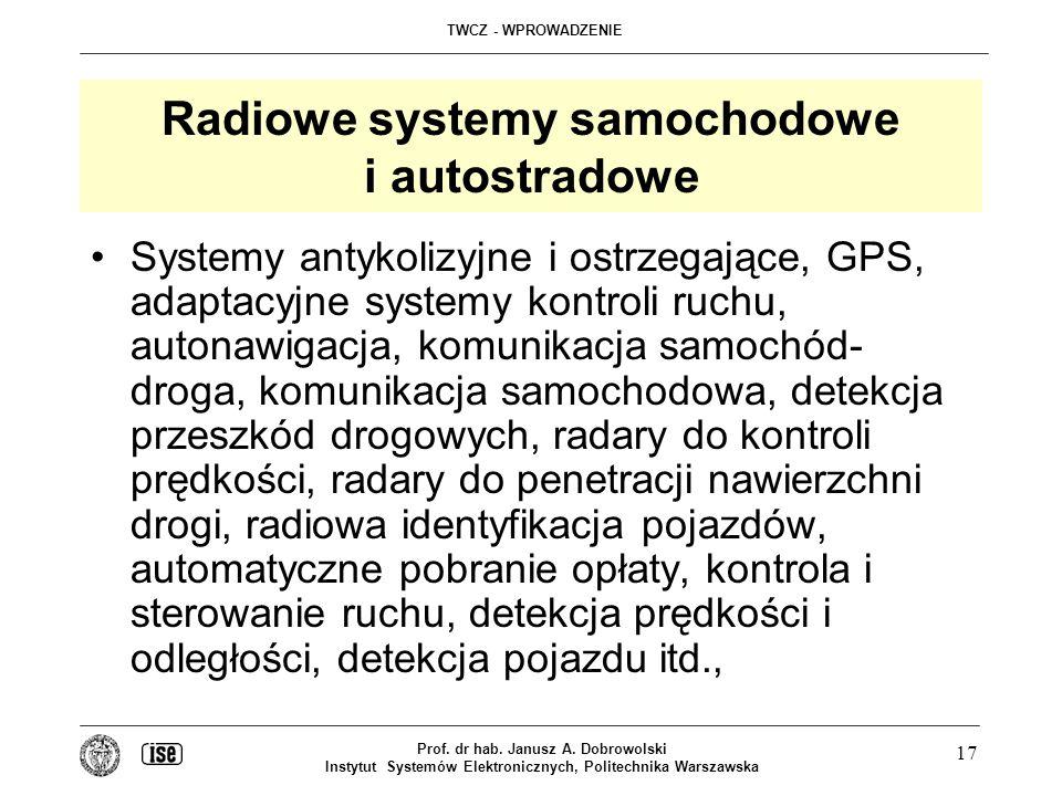 Radiowe systemy samochodowe i autostradowe