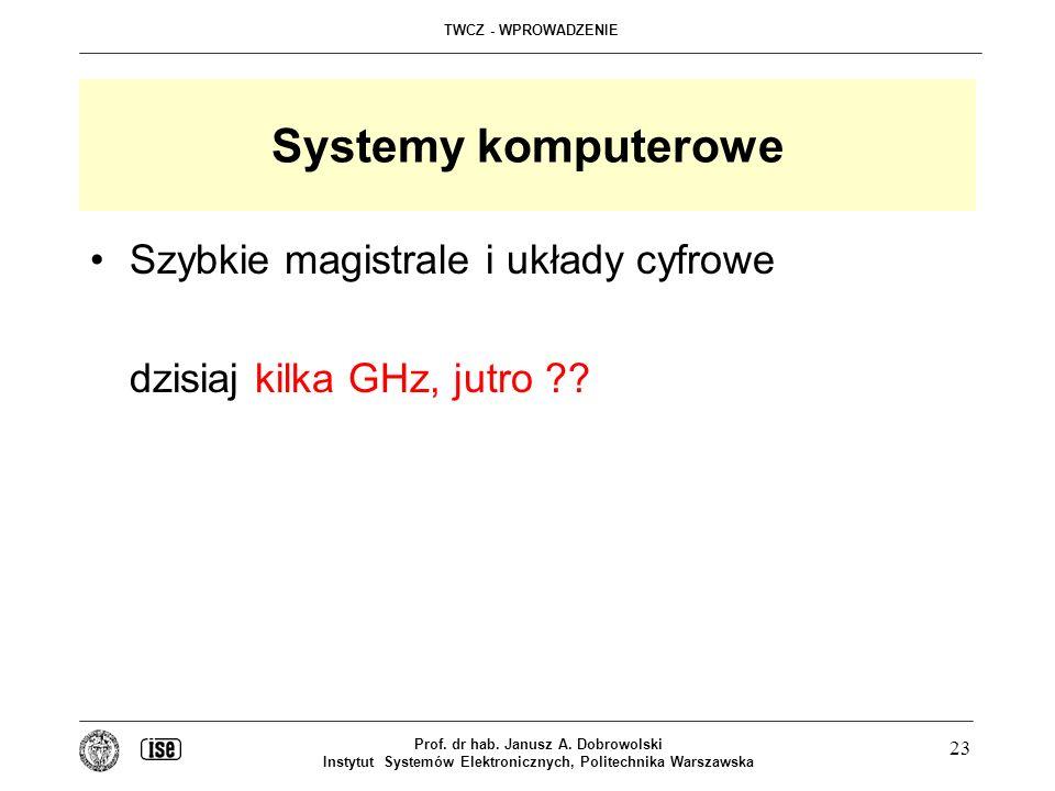 Systemy komputerowe Szybkie magistrale i układy cyfrowe