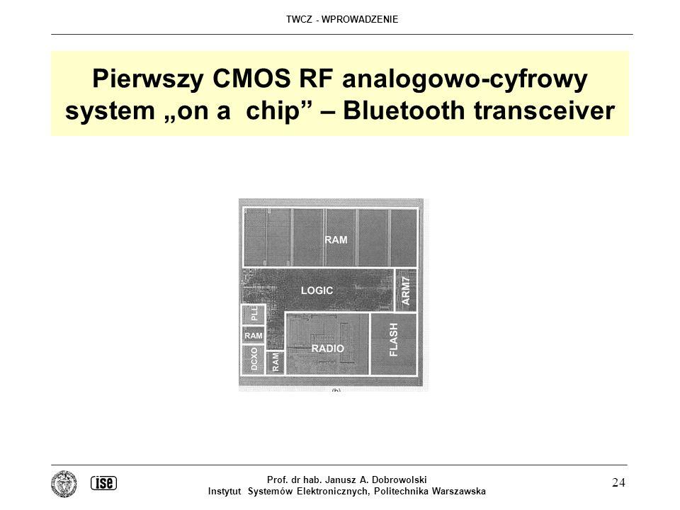"Pierwszy CMOS RF analogowo-cyfrowy system ""on a chip – Bluetooth transceiver"