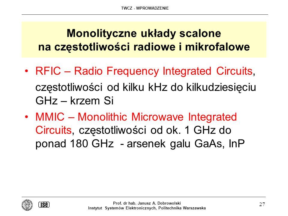 Monolityczne układy scalone na częstotliwości radiowe i mikrofalowe