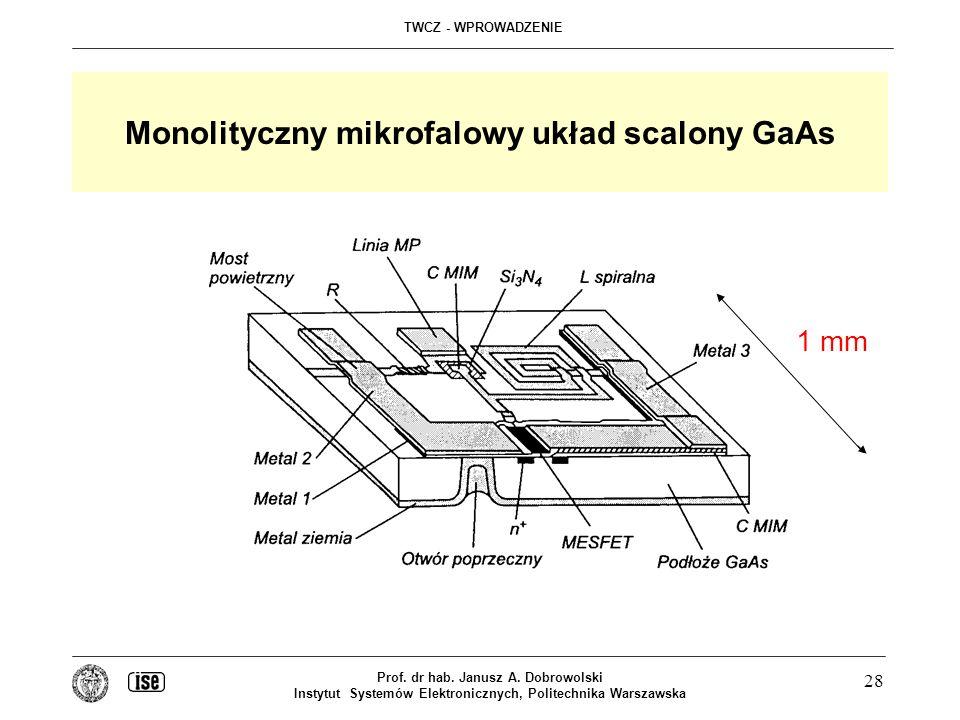 Monolityczny mikrofalowy układ scalony GaAs