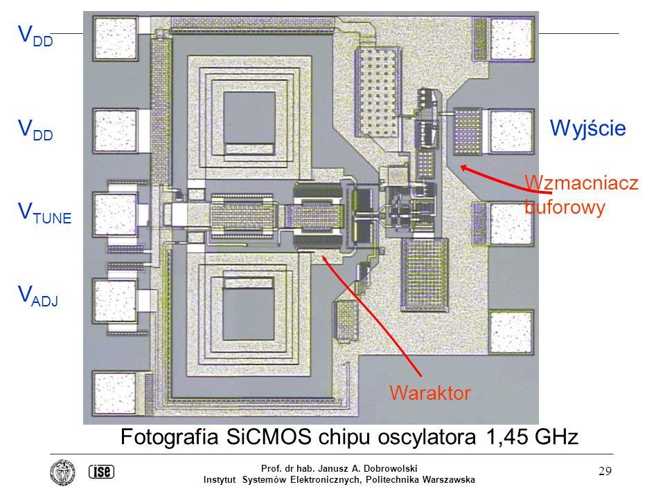 Fotografia SiCMOS chipu oscylatora 1,45 GHz
