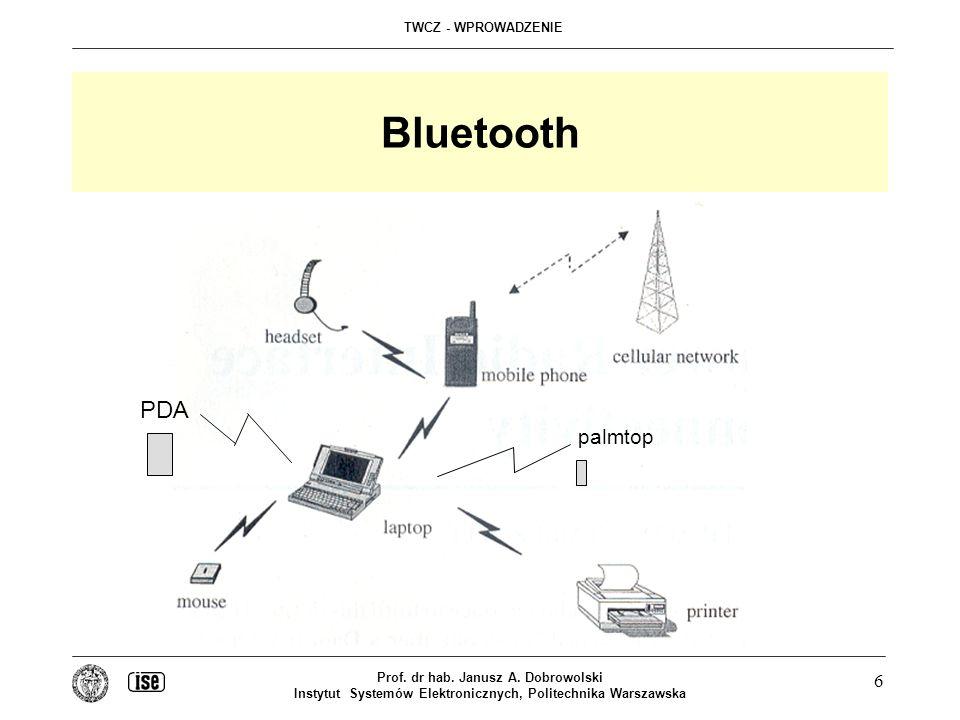 Bluetooth PDA. palmtop. Prof. dr hab. Janusz A.