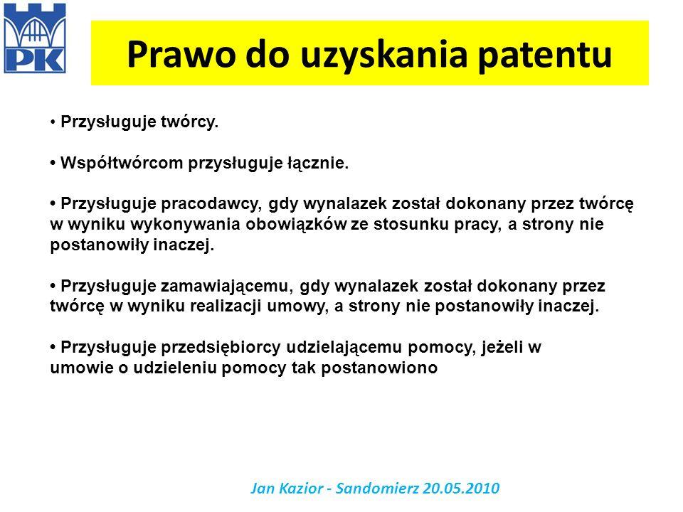 Prawo do uzyskania patentu
