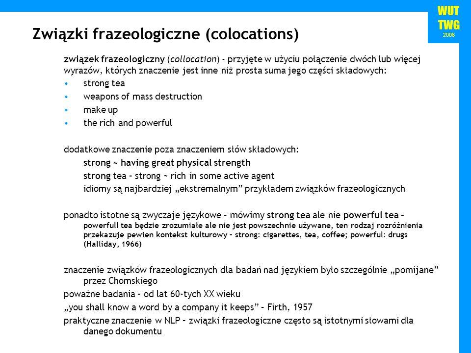 Związki frazeologiczne (colocations)