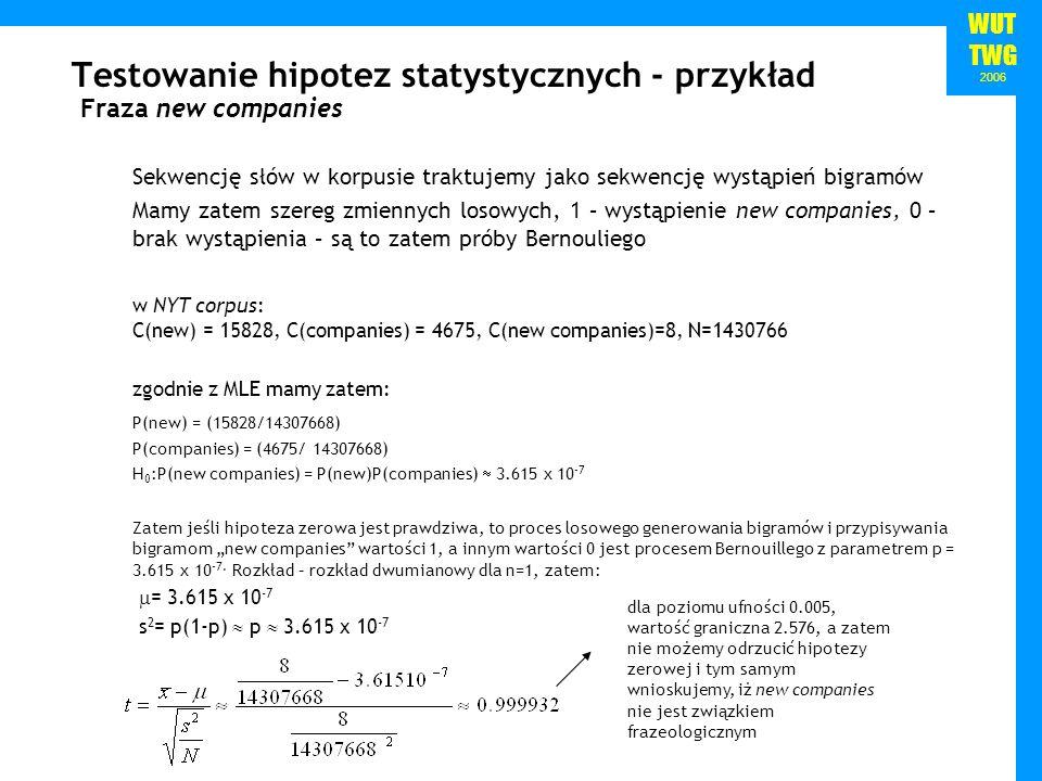 Testowanie hipotez statystycznych - przykład