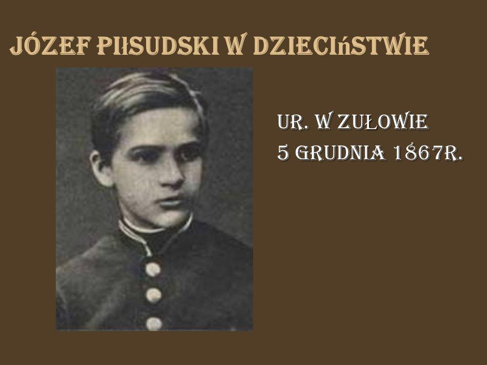 Józef Piłsudski w dzieciństwie