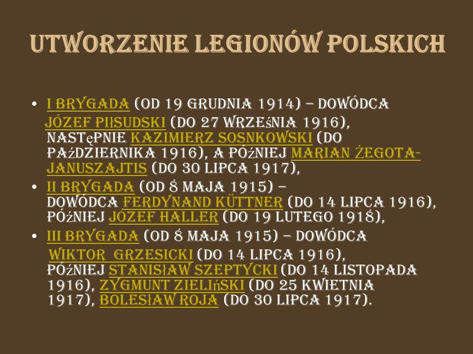 Utworzenie Legionów Polskich