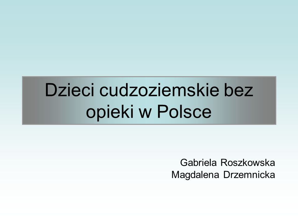 Gabriela Roszkowska Magdalena Drzemnicka