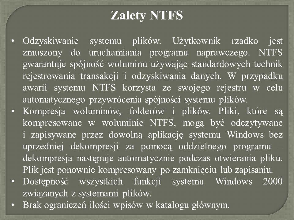 Zalety NTFS