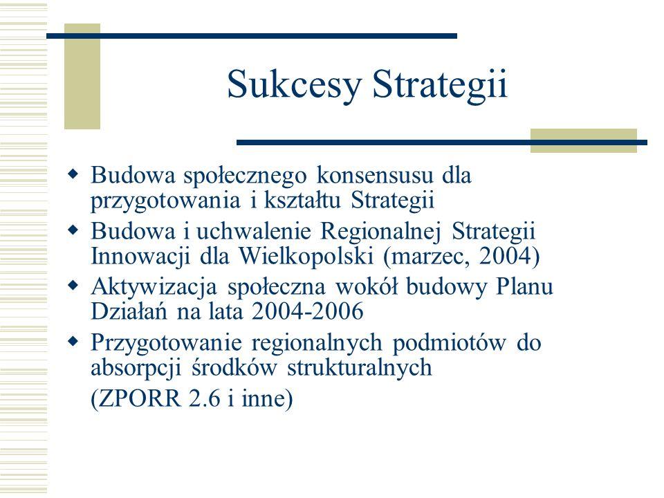 Sukcesy Strategii Budowa społecznego konsensusu dla przygotowania i kształtu Strategii.