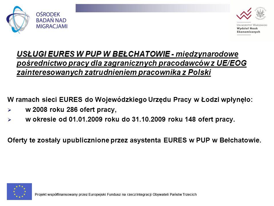 USŁUGI EURES W PUP W BEŁCHATOWIE - międzynarodowe pośrednictwo pracy dla zagranicznych pracodawców z UE/EOG zainteresowanych zatrudnieniem pracownika z Polski