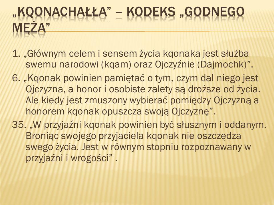 """""""Kqonachałła – Kodeks """"godnego męża"""