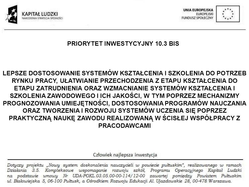 PRIORYTET INWESTYCYJNY 10.3 BIS