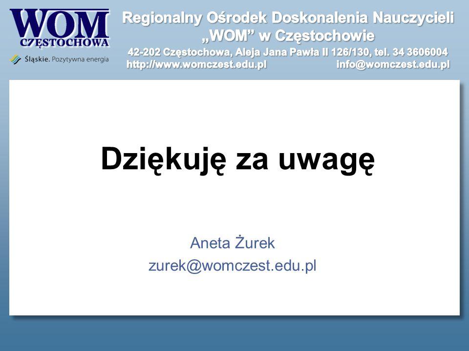 Aneta Żurek zurek@womczest.edu.pl