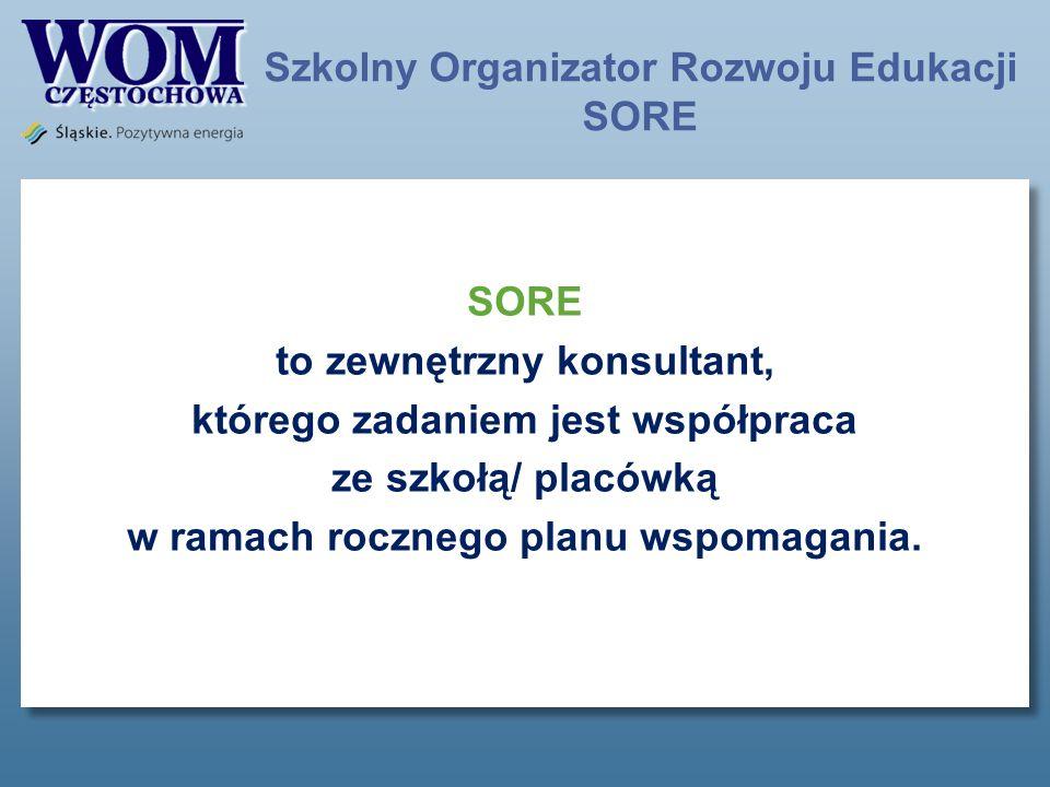 Szkolny Organizator Rozwoju Edukacji SORE
